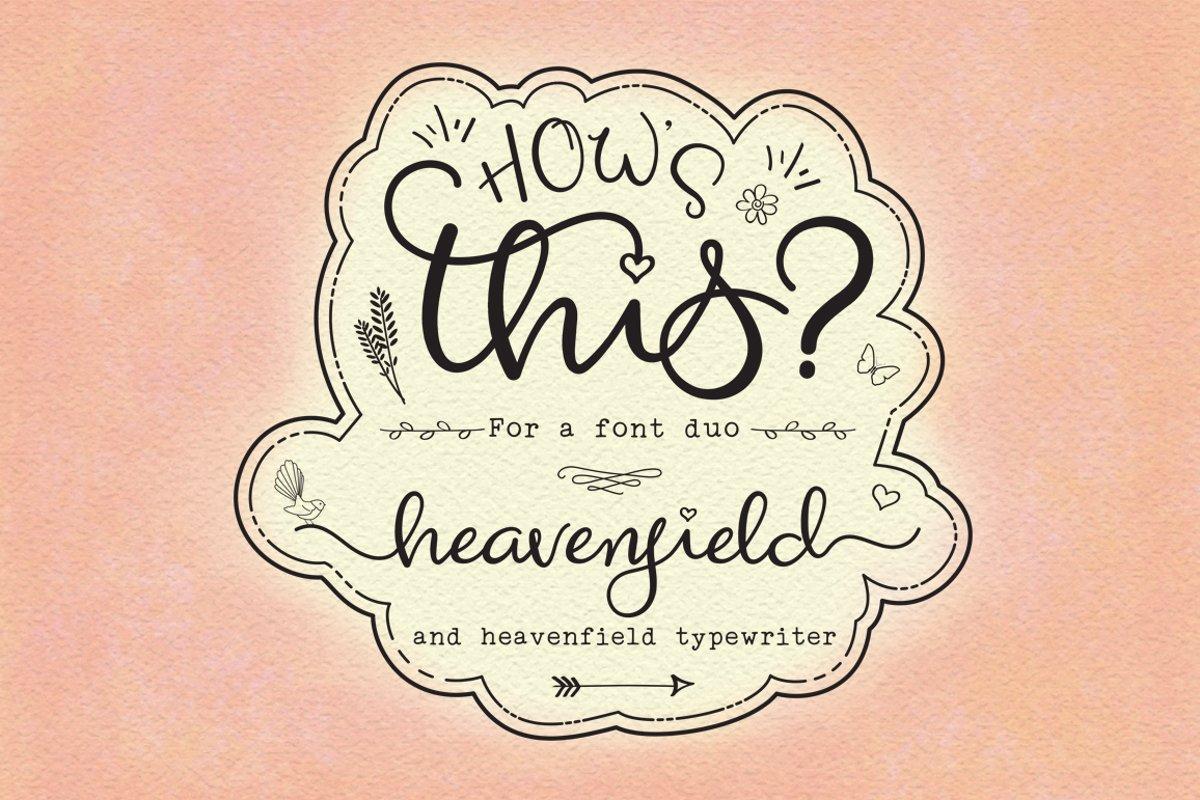 Heavenfield wedding font duo example image 1