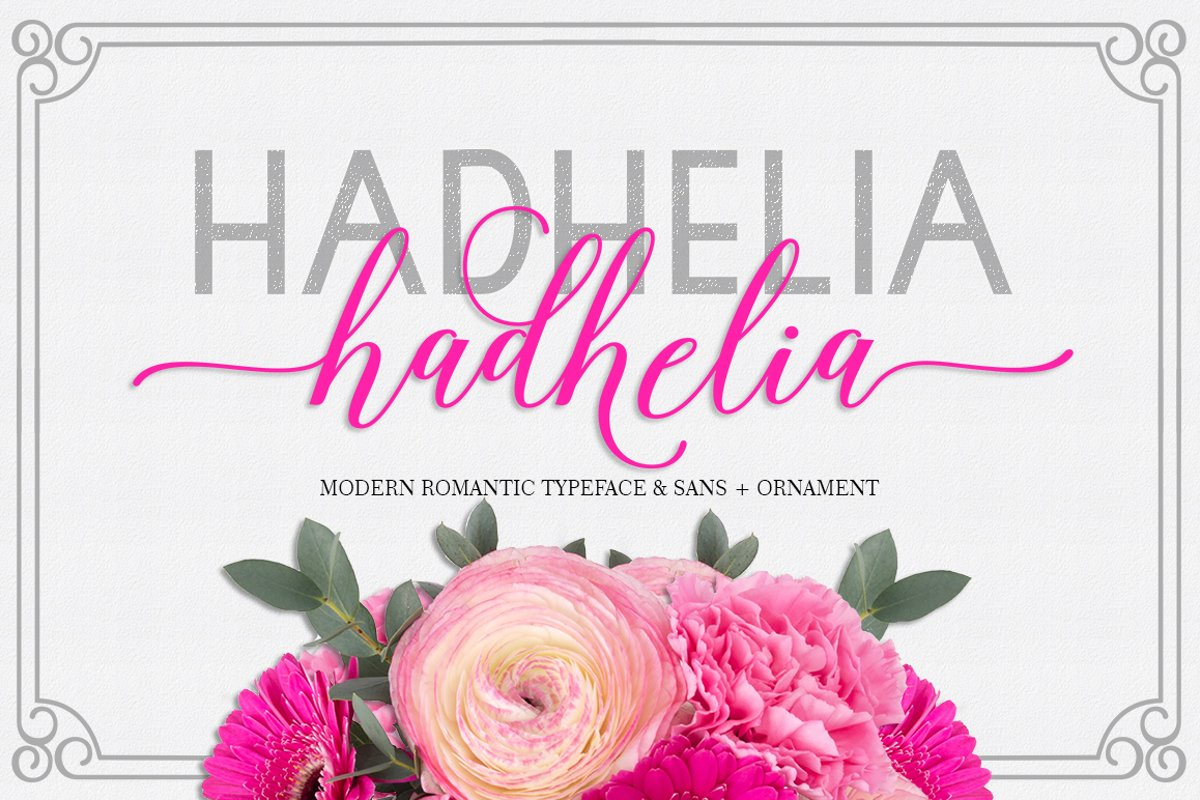 Hadhelia Script, Sans, Ornament example image 1