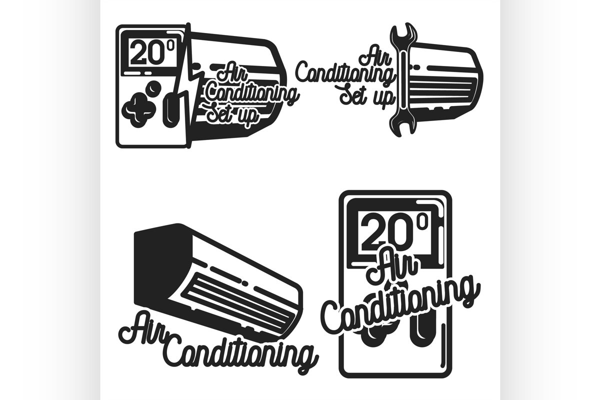 Vintage air conditioning emblems example image 1