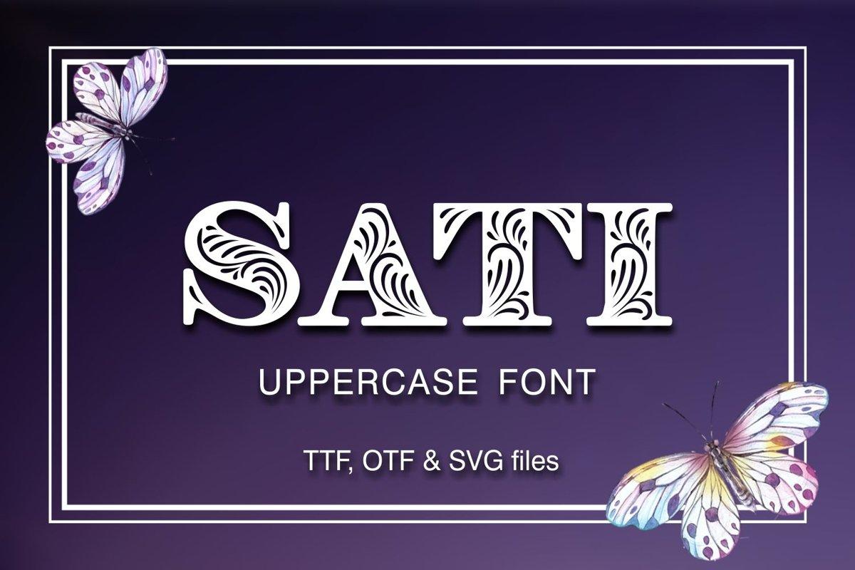 SATI font example image 1