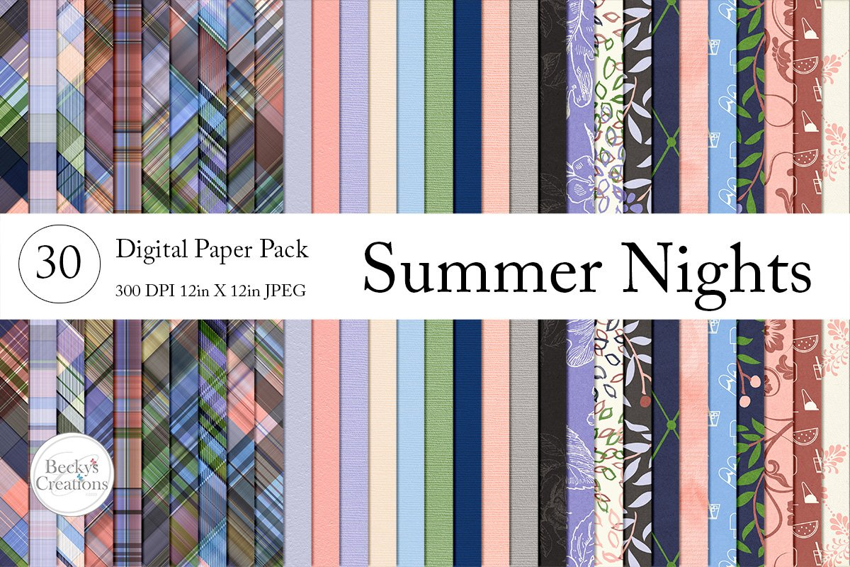 Summer Nights Paper Pack Bundle example image 1