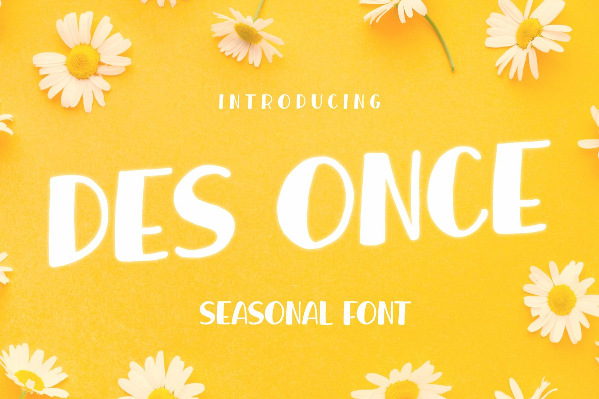 DES ONCE Font example image 1