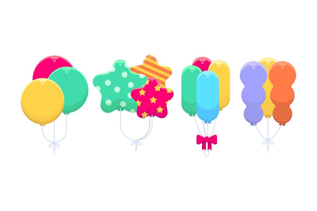 Birthday Balloons Illustrations example image 1