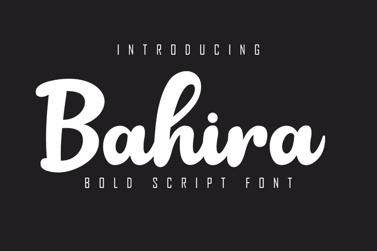 Bahira Bold Script Font example image 1