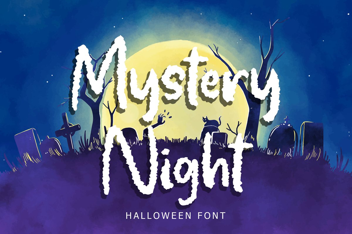 Mystery Night Helloween Font example image 1