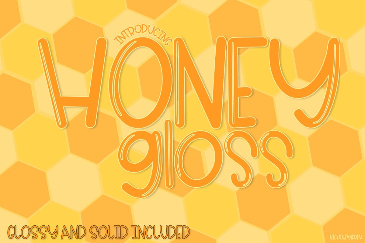 Honey Gloss - A Glossy & Solid Font Pair example image 1