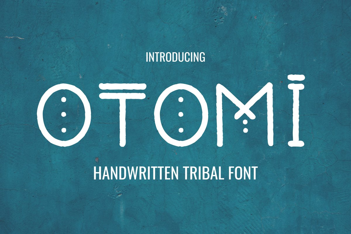 Otomi - Tribal Style Font example image 1