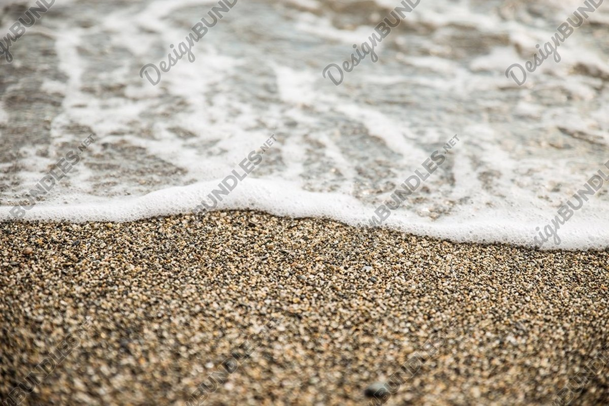 Stock Photo - Sea Foam And Sand On Beach example image 1