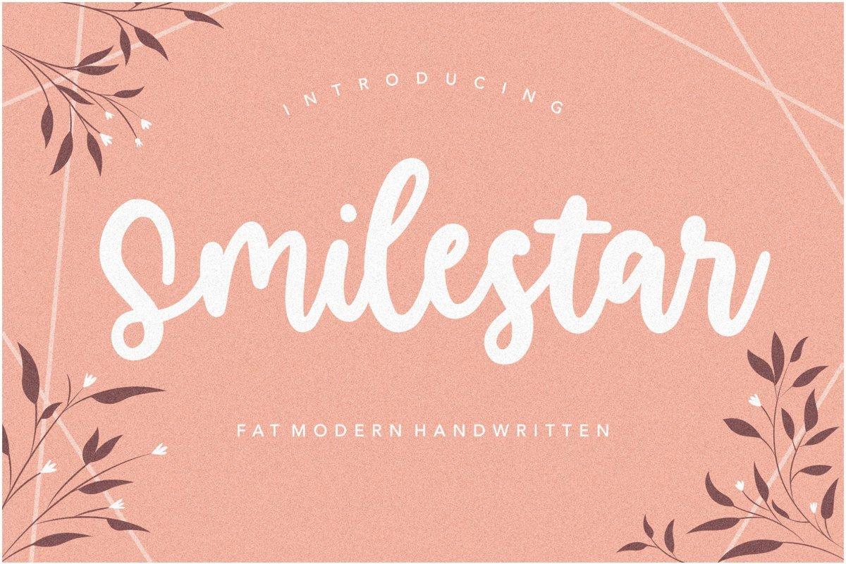 Smilestar is a Fat Modern Handwritten Font example image 1