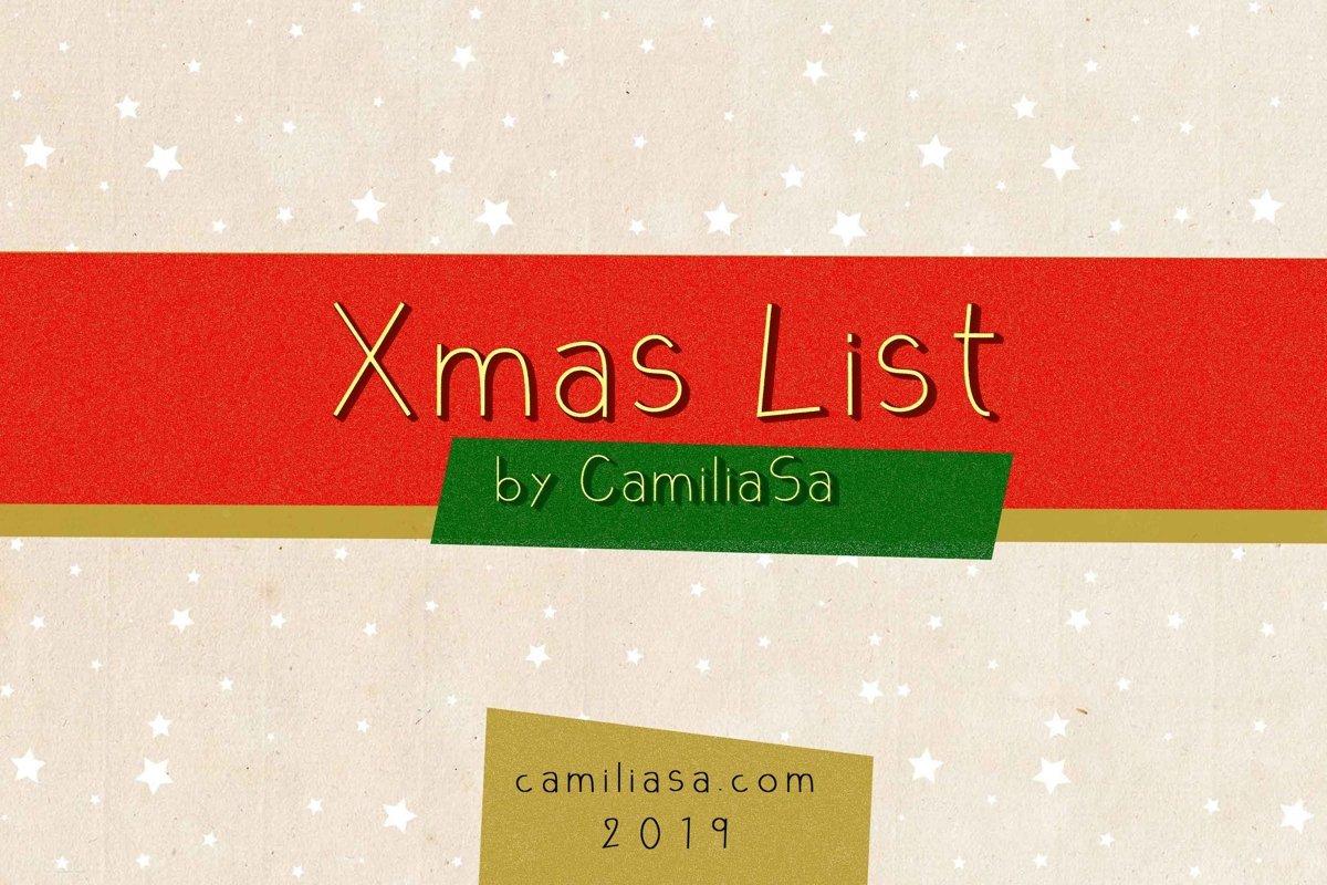 Xmas List Regular - A festive Christmas sans serif font ! example image 1