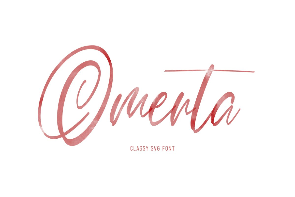 Omerta | Classy SVG Font example image 1
