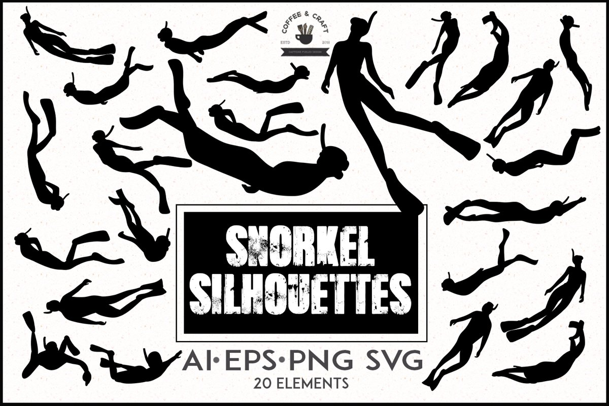Snorkel silhouettes example image 1