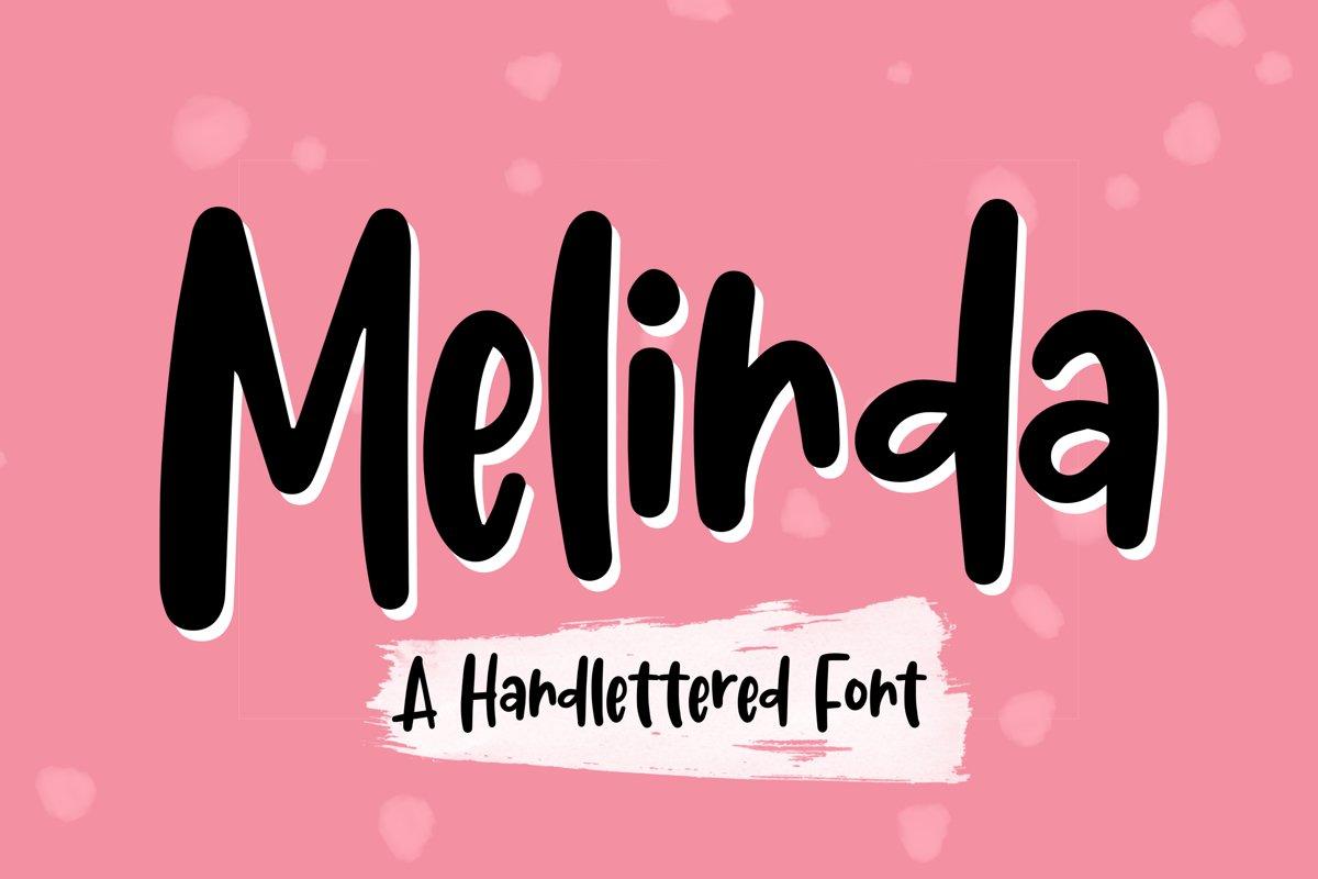 Melinda - Handlettered Font example image 1