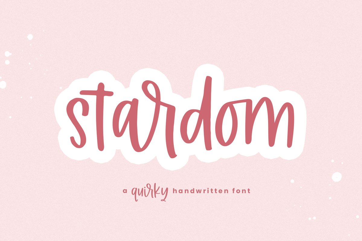 Stardom - A Quirky Handwritten Font example image 1