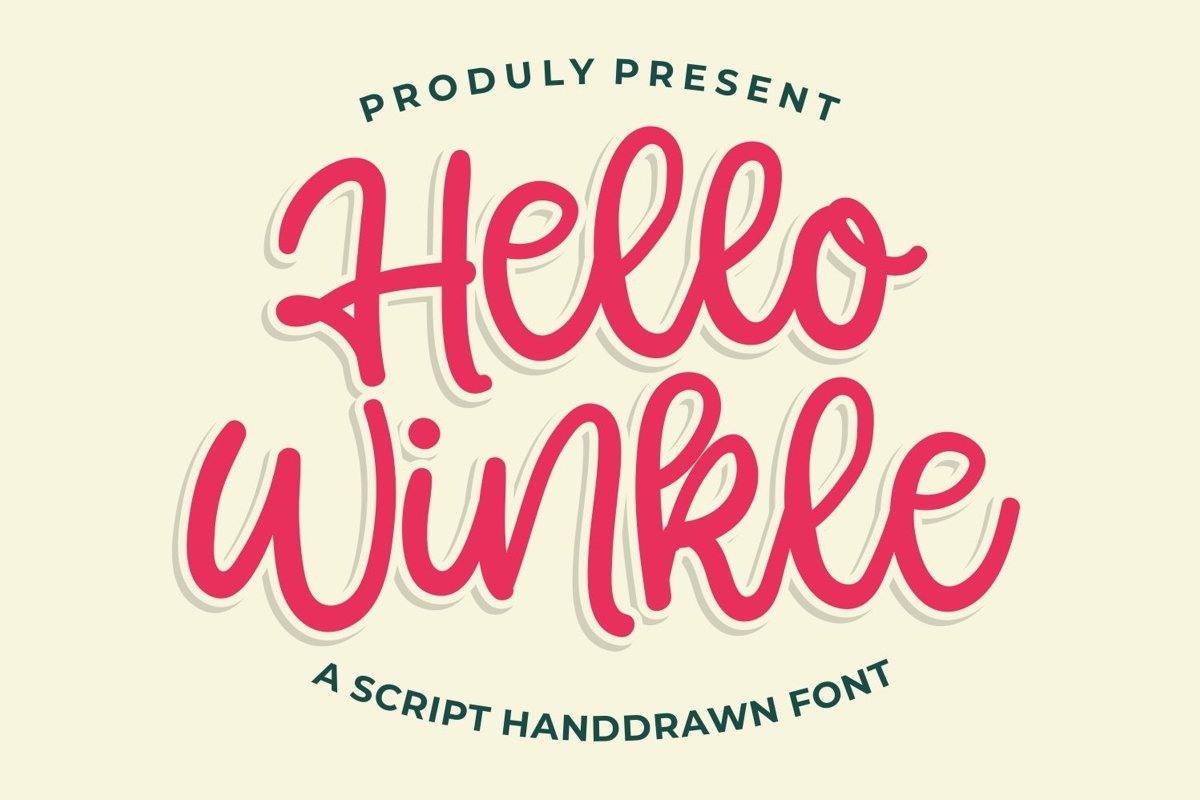 Hello Winkle - Handlettering Font example image 1