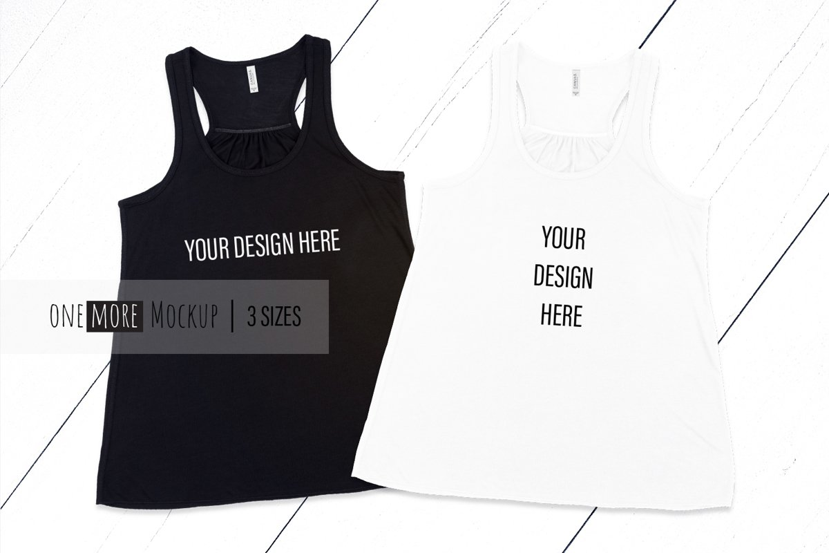 Women Tank Top Mockup | Bella Canvas 8800 example image 1
