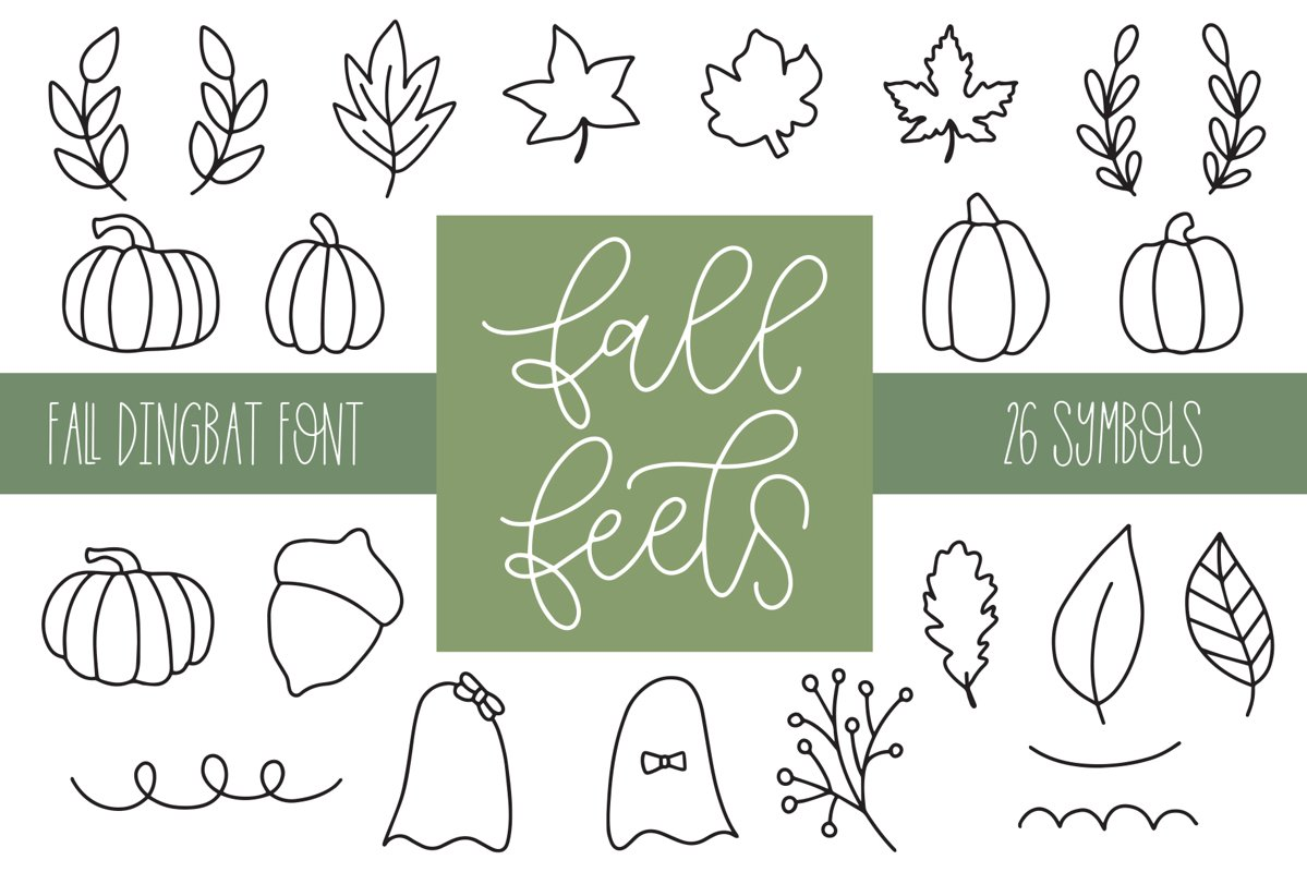 Fall Feels, Fall Doodle Font example image 1
