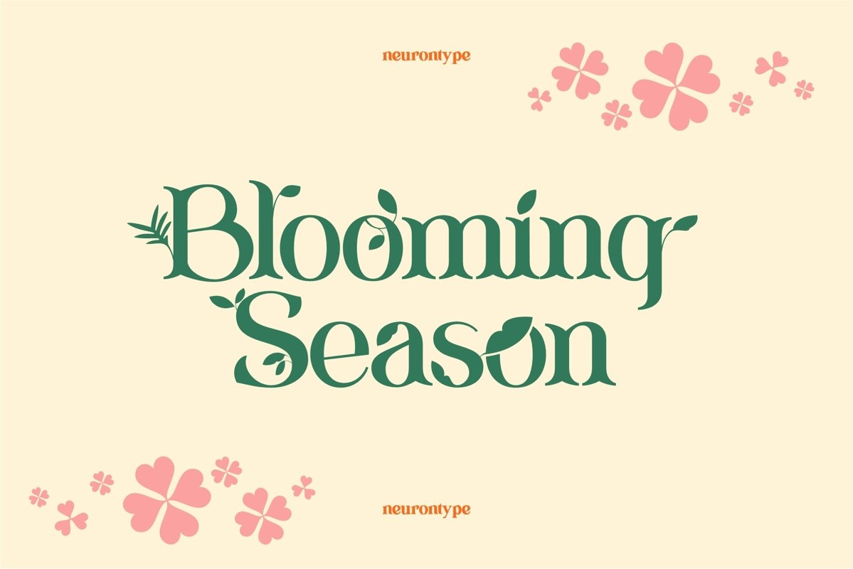 Blooming Season Floral Font example image 1
