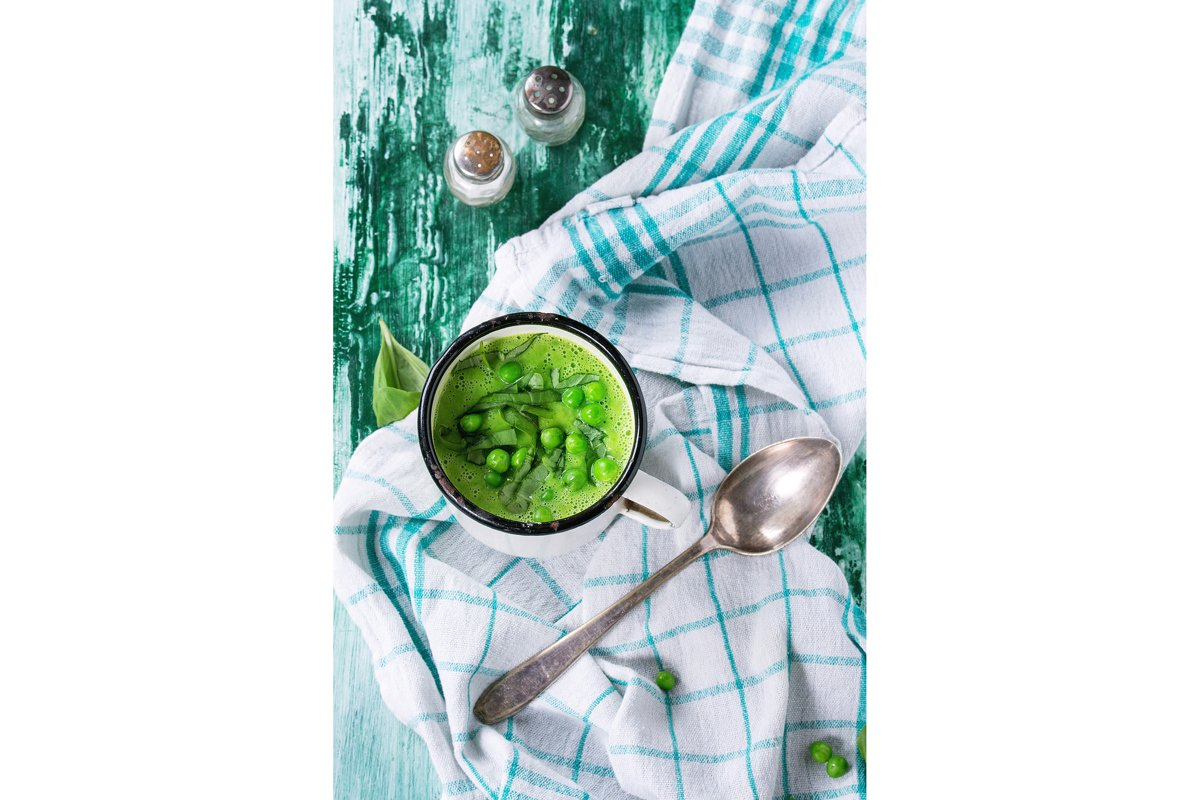 Pea cream soup example image 1