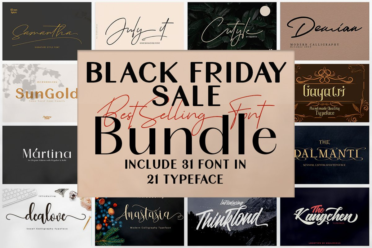 Black Friday - Font Bundle Collections example image 1