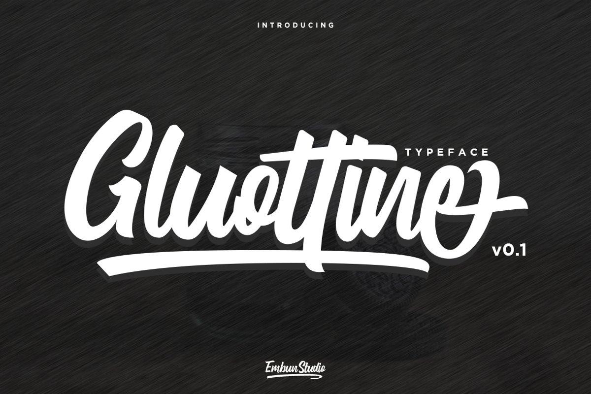 Gluottine Typeface example image 1