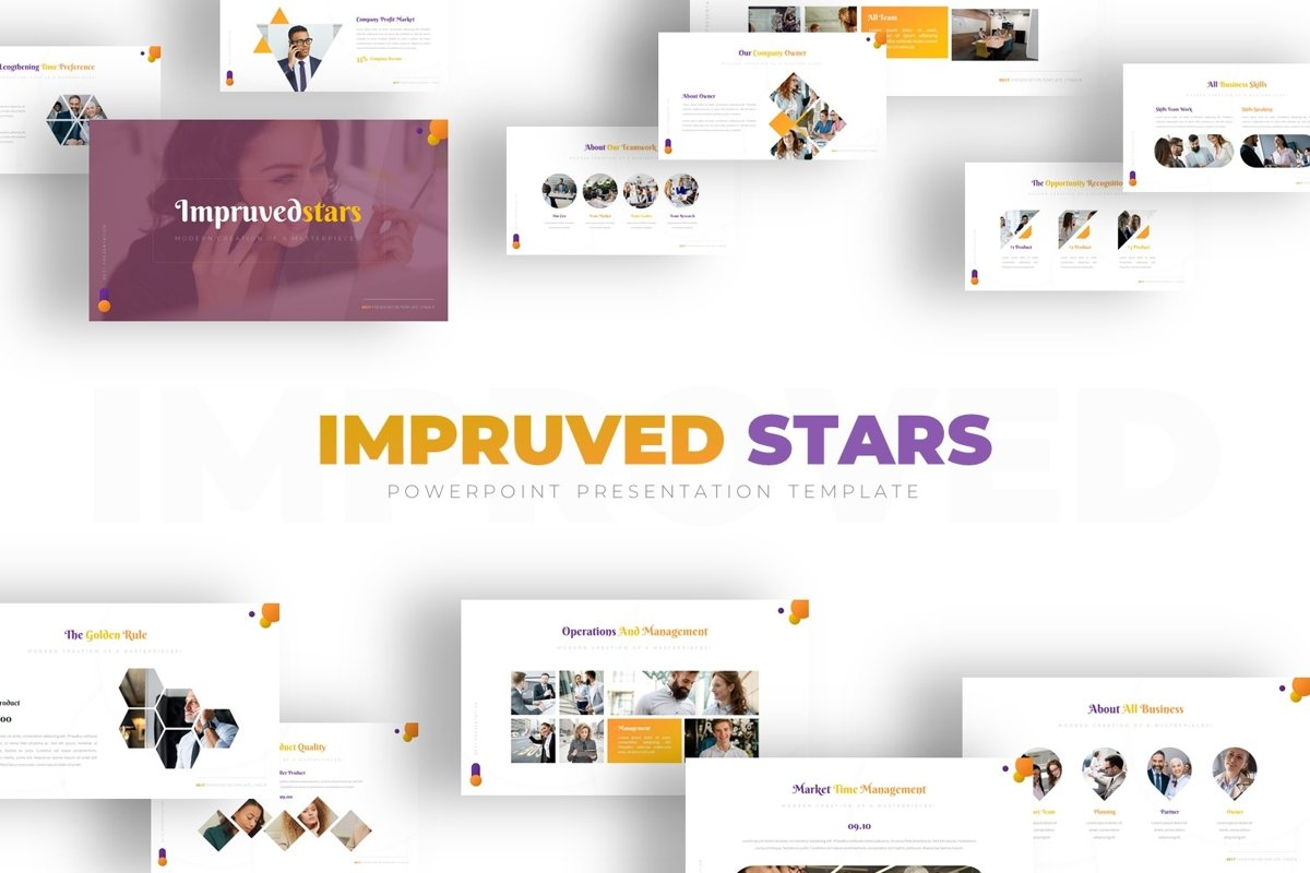 Impruvedstars - Powerpoint Template example image 1
