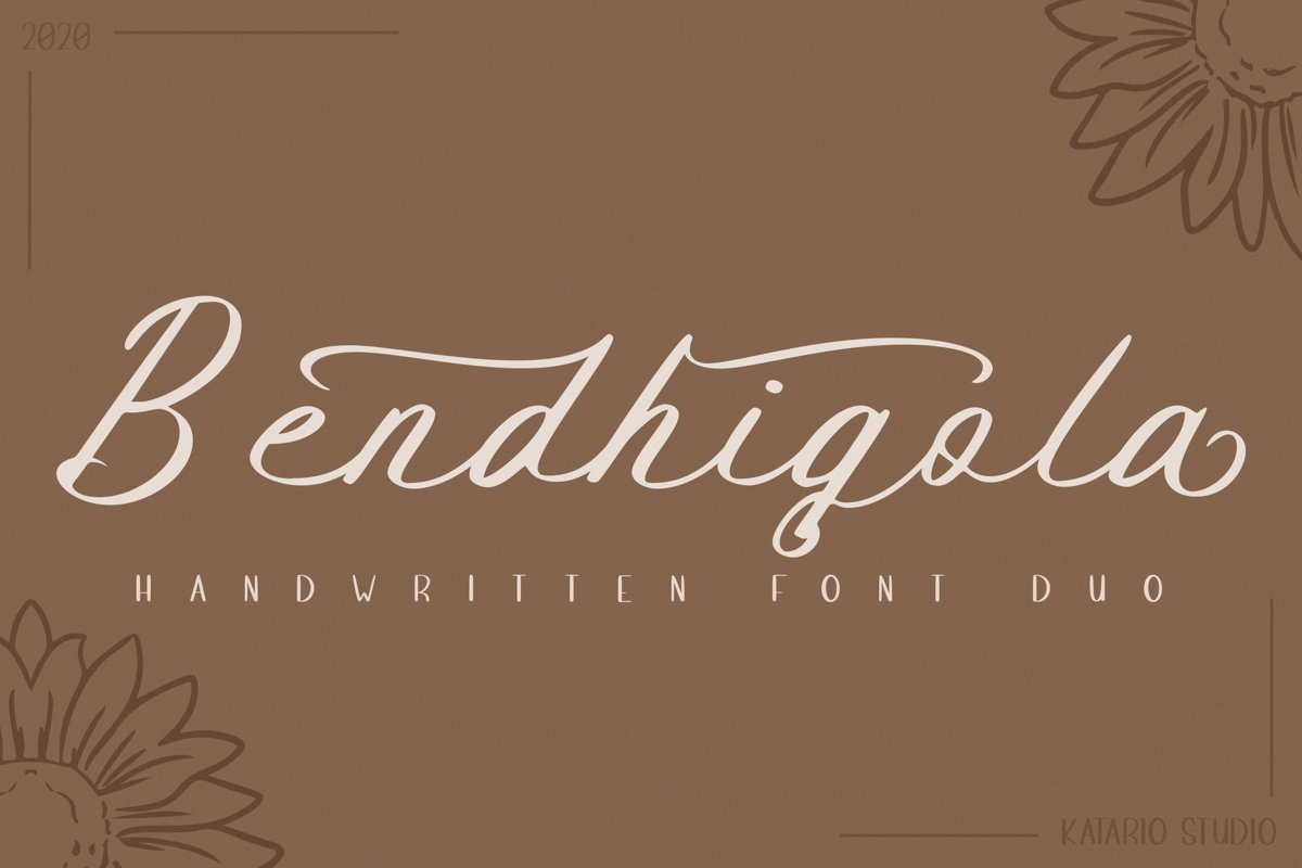 Bendhigola - Handwritten Font Duo example image 1