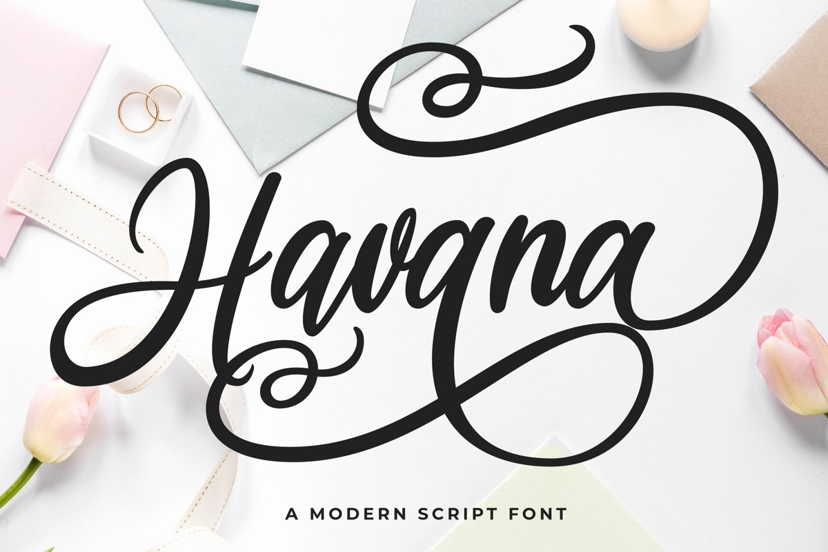 Havana - a Modern Script example image 1