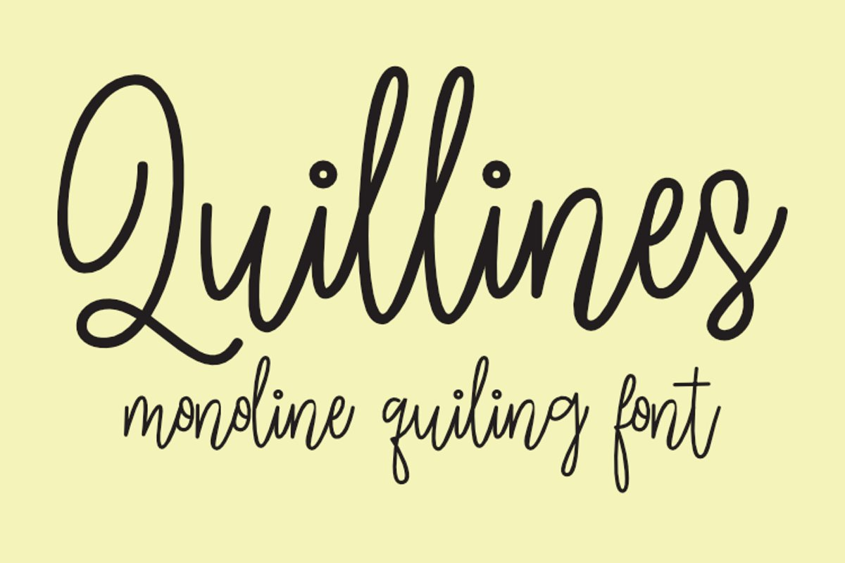 Quillines - Hairline Font - Single Line Font example image 1