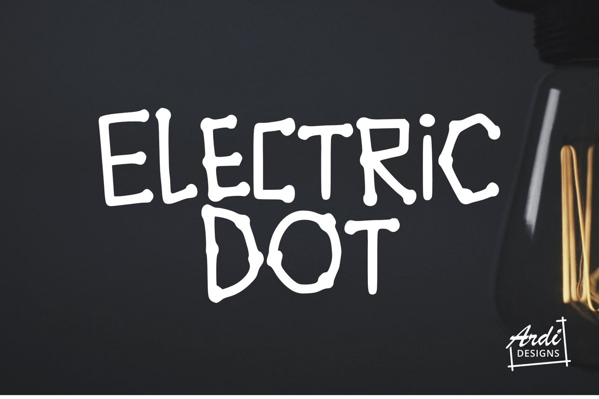 Electric Dot Font example image 1