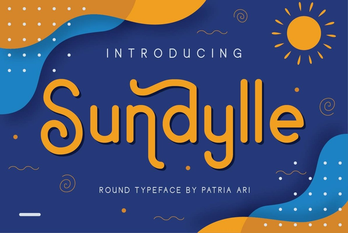 Sundylle - Fun & Decorative Display Typeface example image 1