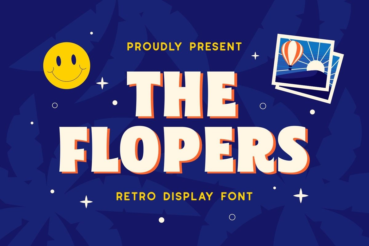 Flopers - Retro Display Font example image 1