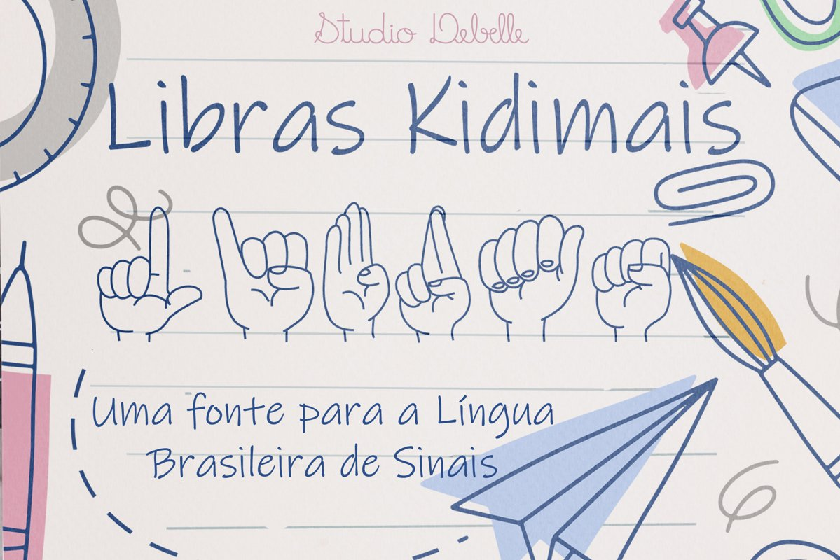 Fonte Libras Kidimais example image 1