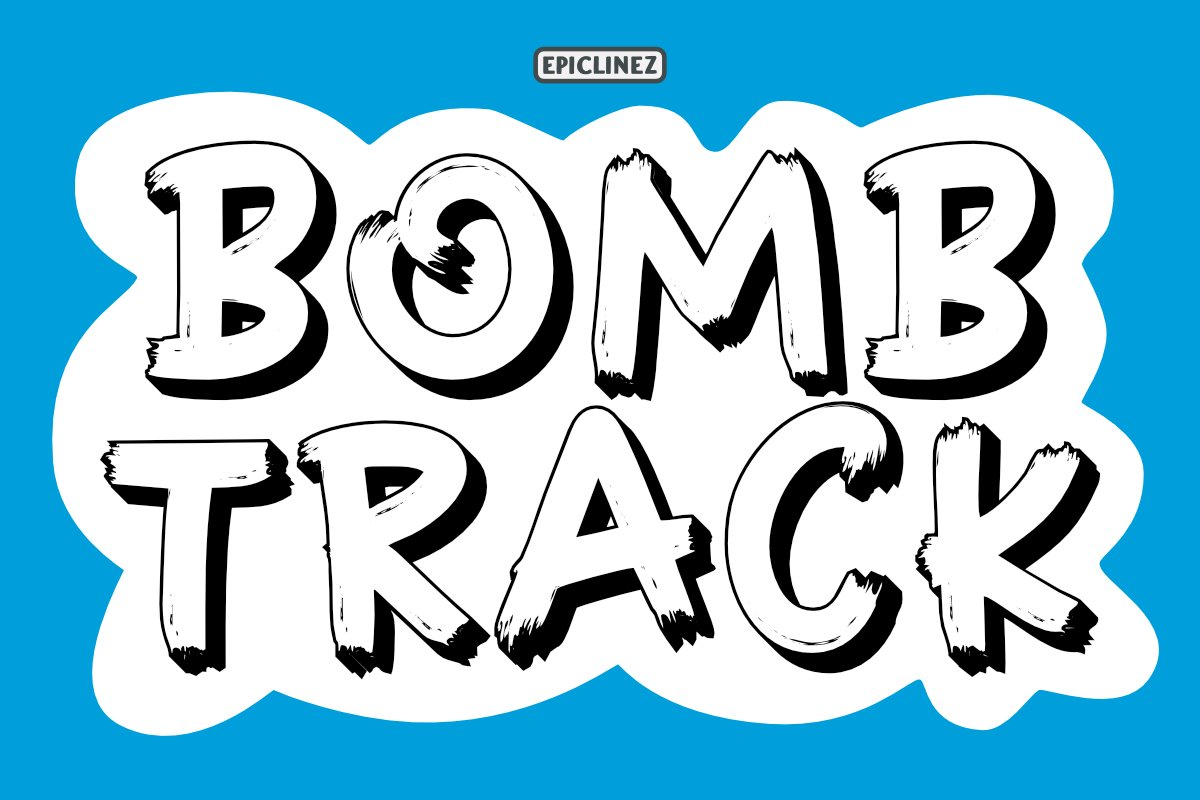 Bombtrack - Display Font example image 1