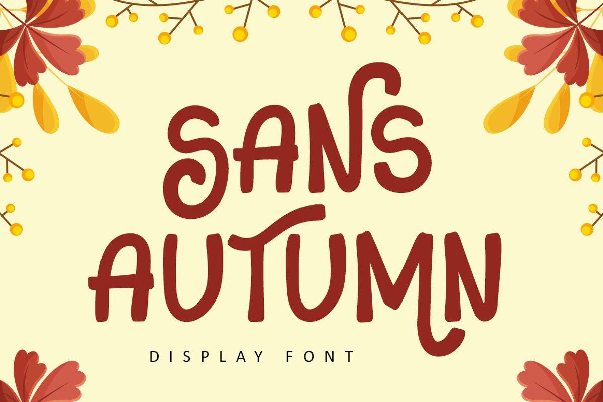 Sans Autumn - Display Font example image 1
