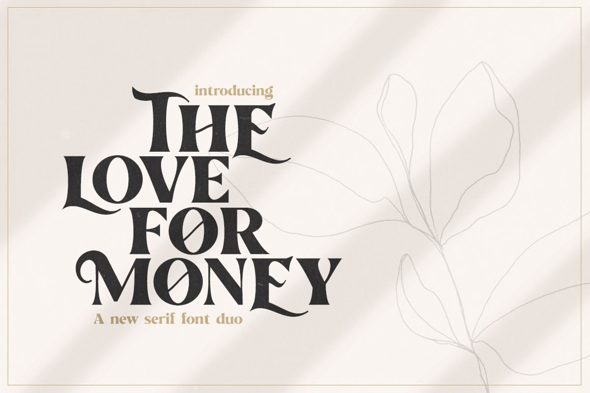 The Love For Money Font Duo example image 1