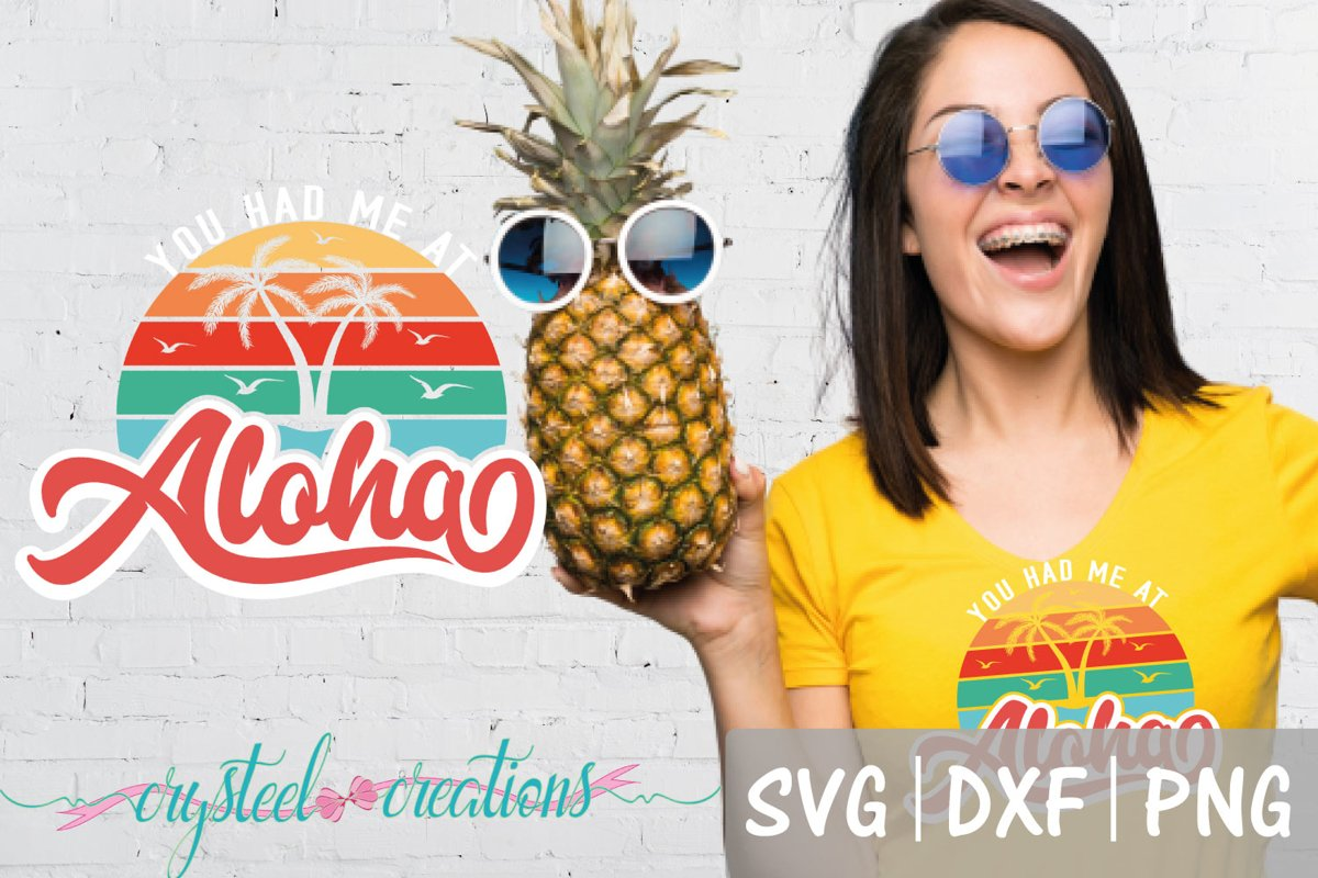You Had Me At Aloha Retro Camping SVG, DXF, PNG example image 1