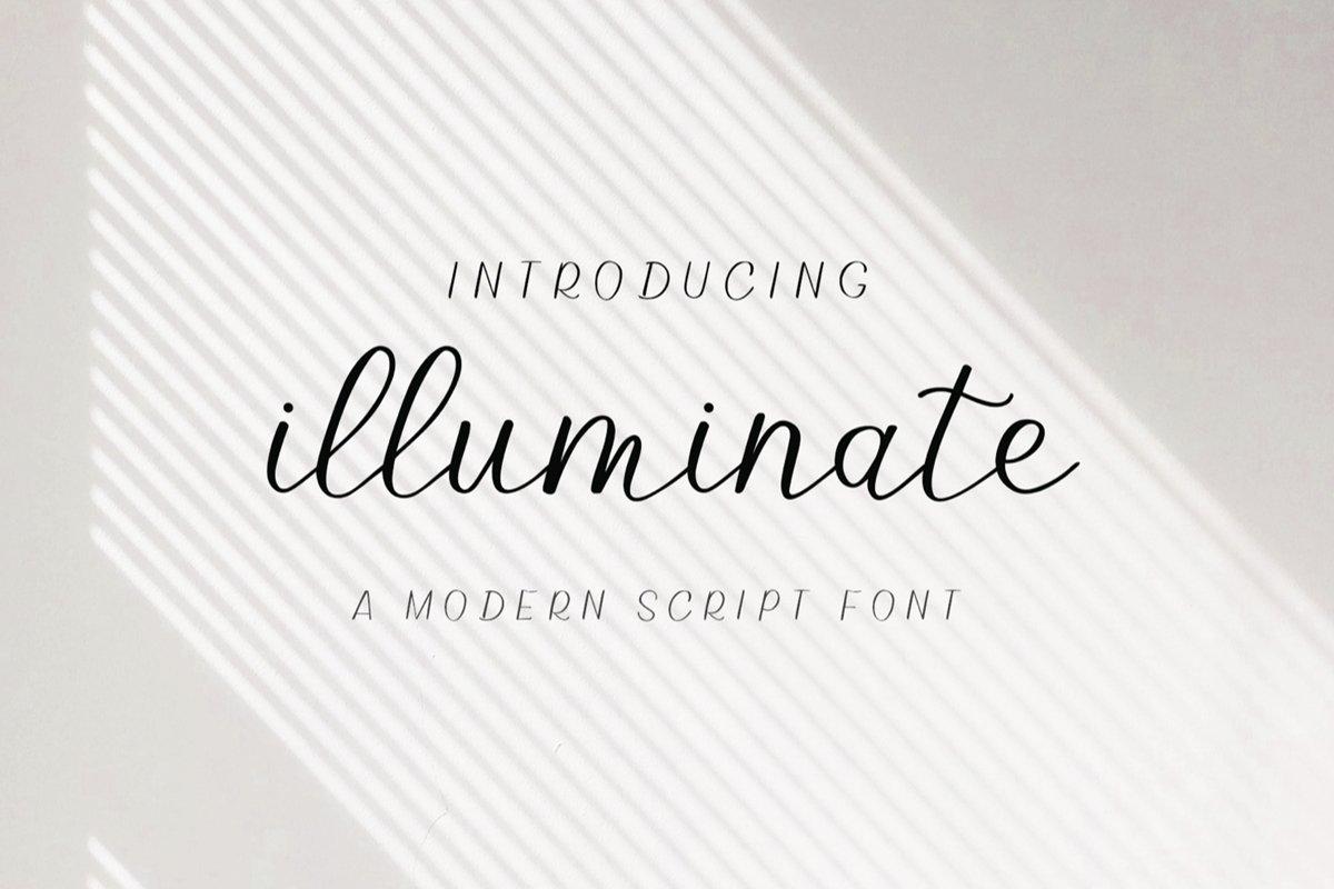 Illuminate - An Elegant and Modern Script Font example image 1