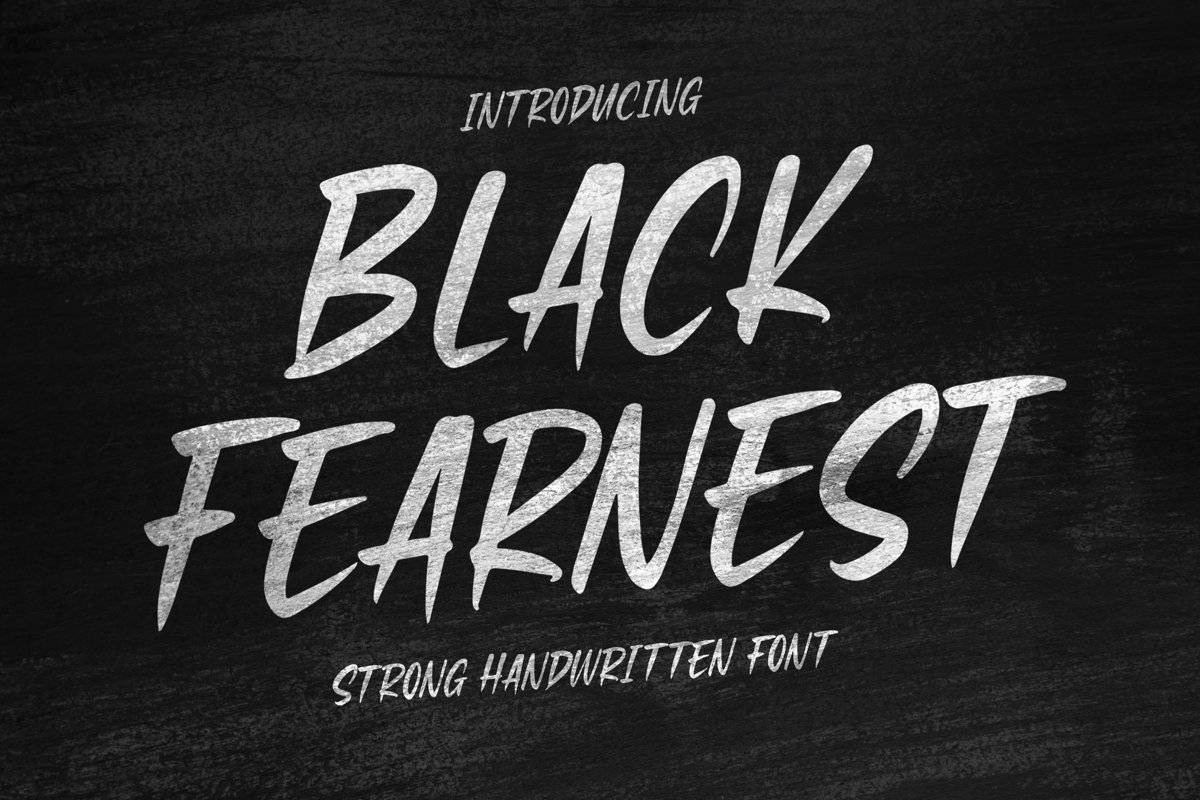 Black Fearnest - Strong Handwritten Font example image 1