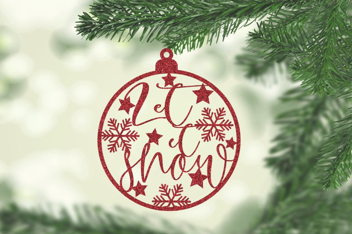 Christmas Ornament For Paper and Laser Design example image 1