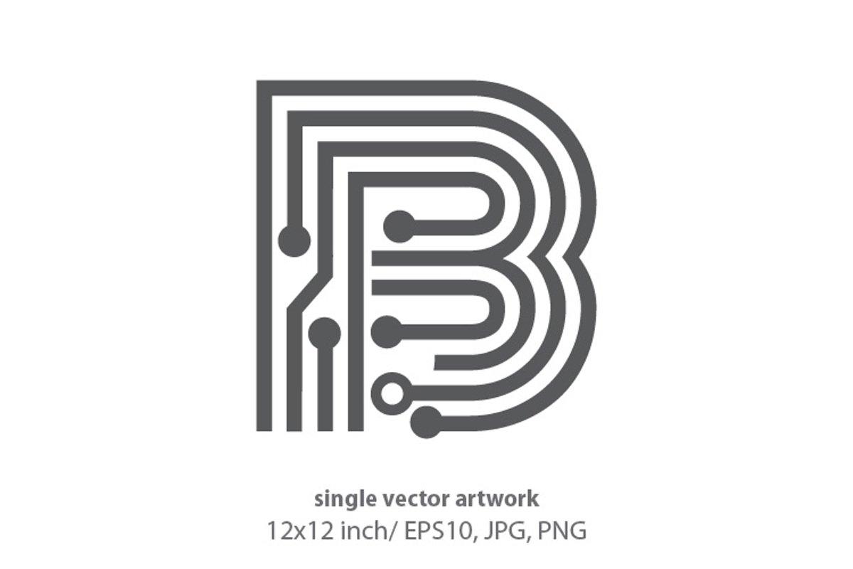 digital letter b- single vector artwork example image 1