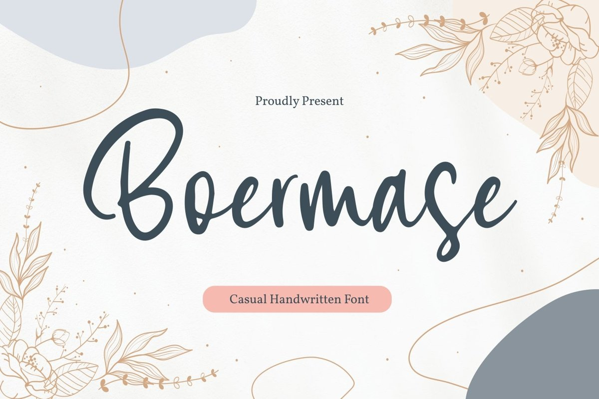 Boermase - Casual Handwritten Font example image 1
