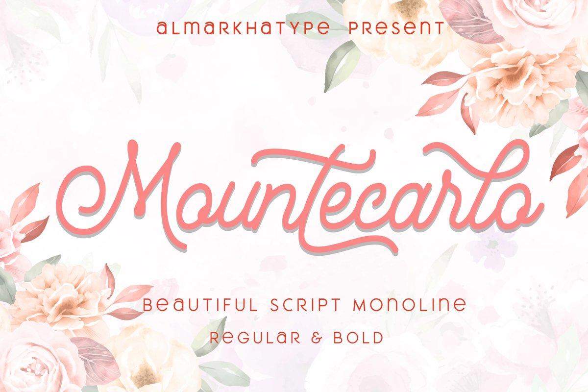 Mountecarlo - Beautiful Monoline example image 1
