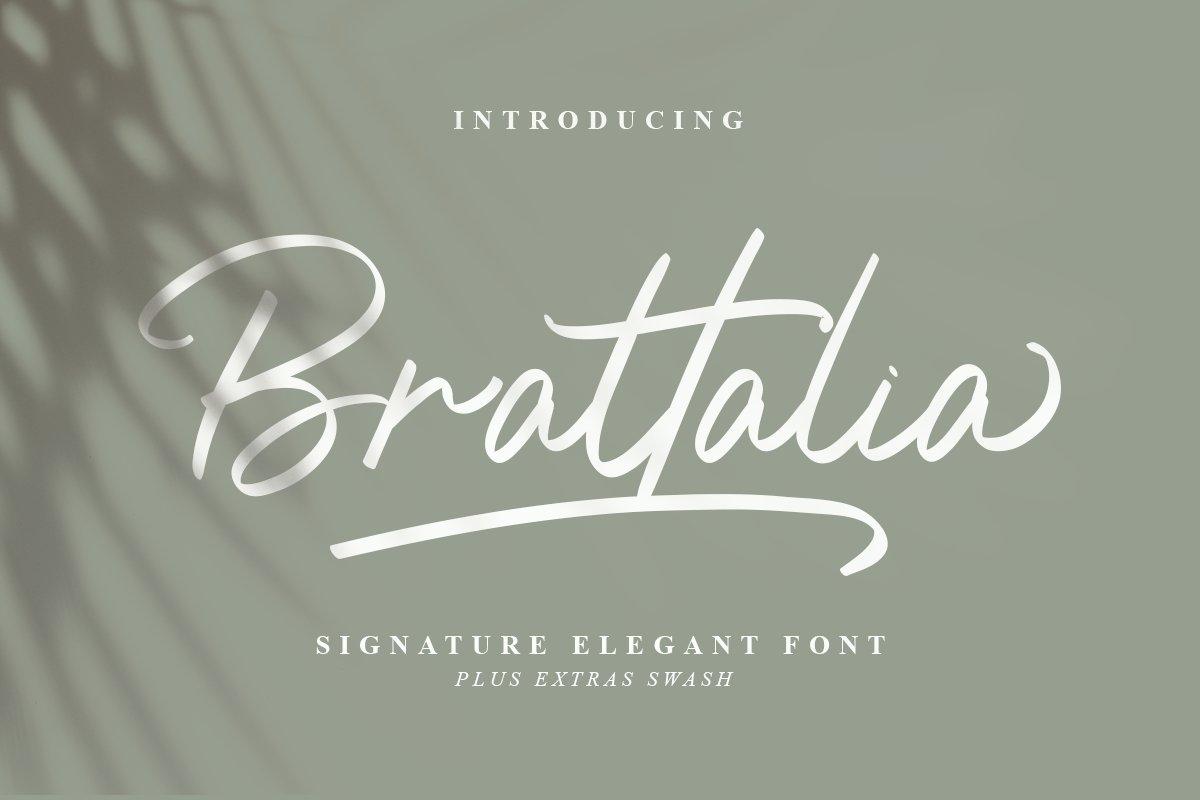 Brattalia Font - EXTRA SWASH example image 1