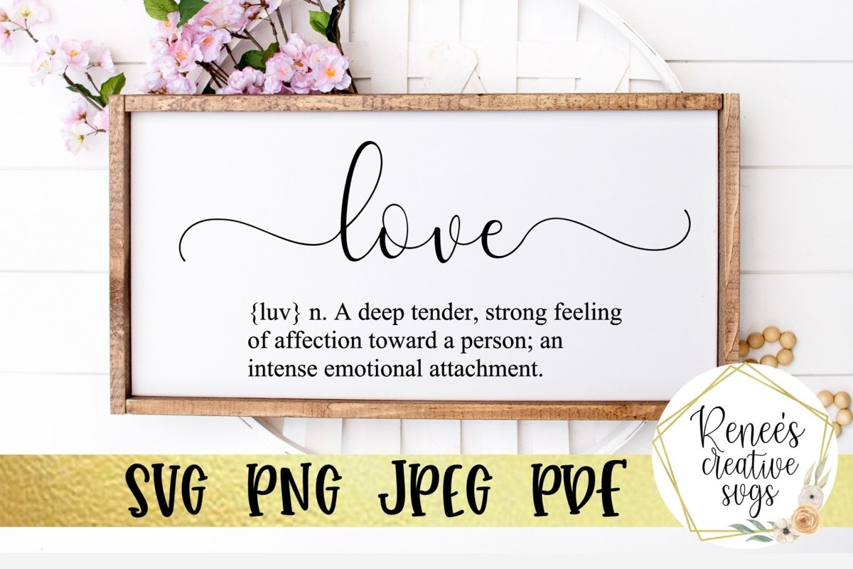 Definition of Love | Quote | SVG Cutting File example image 1