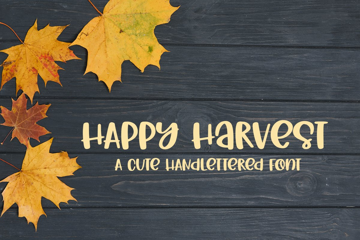Happy Harvest - A Cute Hand-Lettered Fall Font example image 1