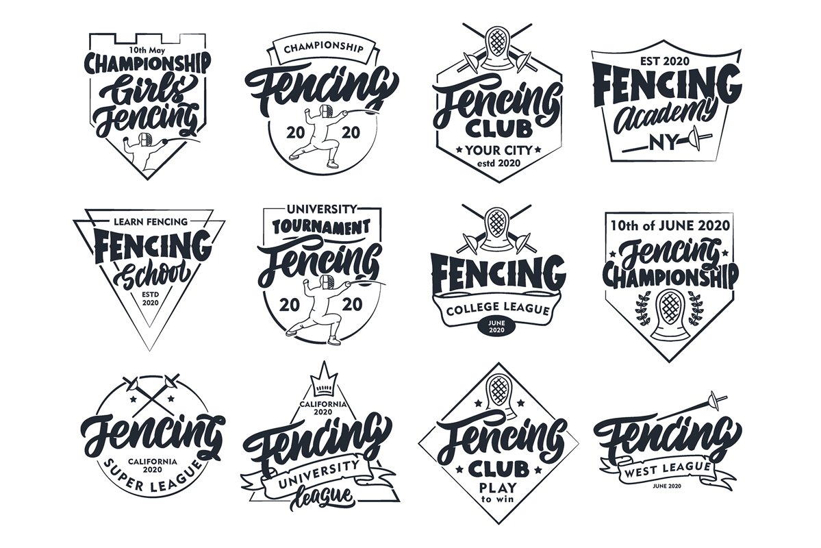 Set of Fencing logos example image 1
