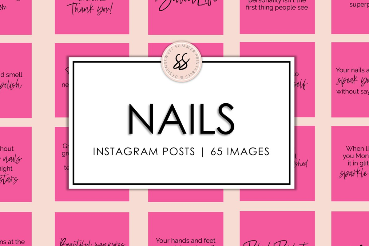 Nails Hot Pink Instagram Posts example image 1
