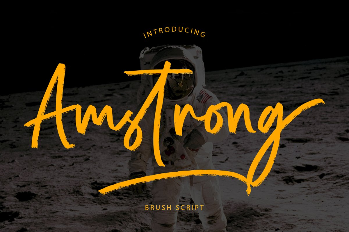 Amstrong Beautiful Brush Font example image 1