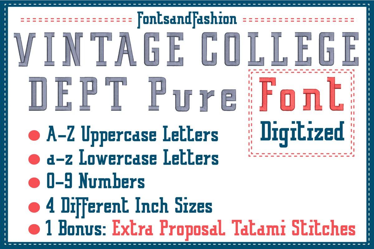 Vintage College Dept_Pure DIGITIZED example image 1
